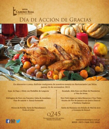 Hotel Camino Real Thanksgiving Dinner