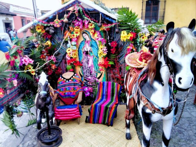Virgen de Guadalupe Day in Antigua Guatemala