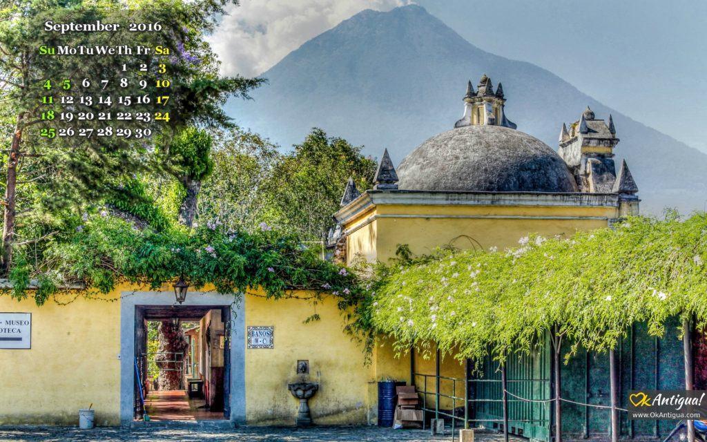 San francisco church Antigua Guatemala Wallpaper