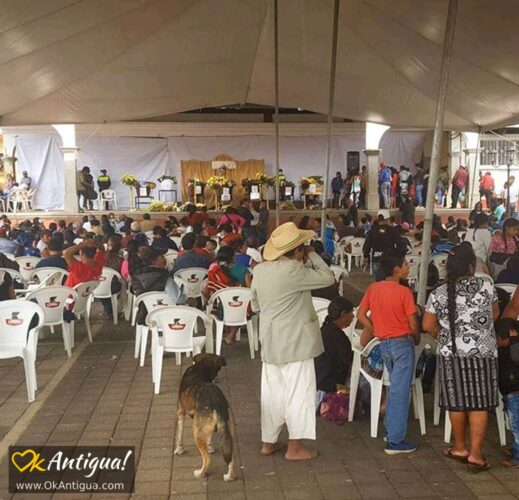Funeral service for victims in Alotenango