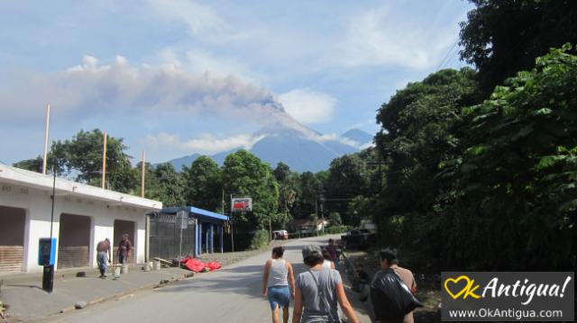 El Rodeo before Fuego's eruption