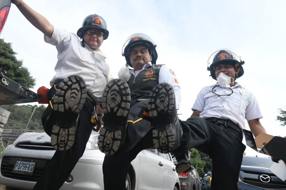 rescuers with new shoes